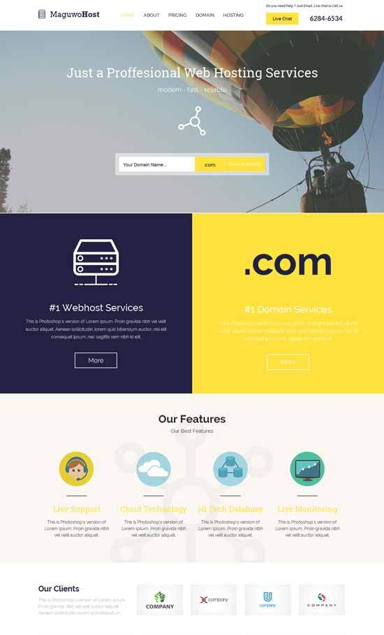 Free-Responsive-Web-Hosting-Template